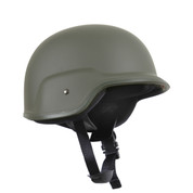 Deluxe Kids Military Style ABS Plastic Helmet - OD View