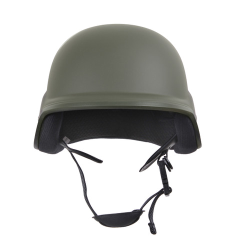 Deluxe Kids Military Style ABS Plastic Helmet -  OD Front View