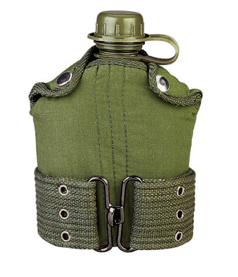 Kids Army Canteen/Pistol Belt Kit Combo - View