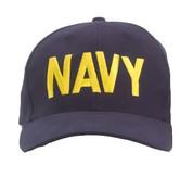 Navy Logo Cap w/Gold-Free Shipping