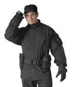 Tactical SDU Black Uniform Shirt - Model View