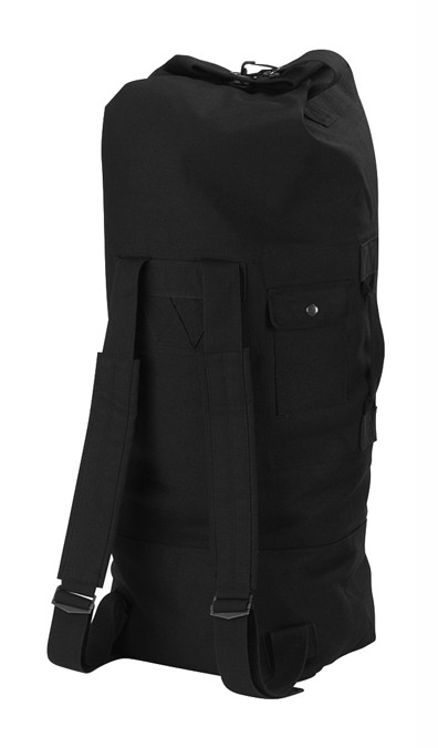 ed849f9f6808 Black Tactical Canvas Backpack Duffle Bag - View. Hover over image to zoom