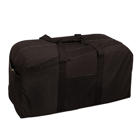 Tactical Black Canvas Jumbo Cargo Gear Bag - View