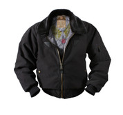 Vintage Cotton Black B-15A Bomber Jacket - View