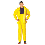 Deluxe Heavy Weight Yellow PVC Rain Suit - View