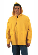 Yellow PVC Rain Jacket