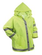 Safety Green Reflective Rain Jacket