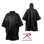 Black Ripstop Nylon Poncho