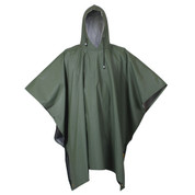 Olive Drab Rubber Poncho -View