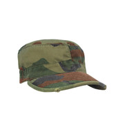 Vintage Woodland Camo Fatigue Cap - View