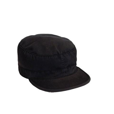 Vintage Black Fatigue Cap - View