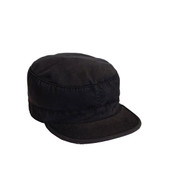 Vintage Black Fatigue Cap - View