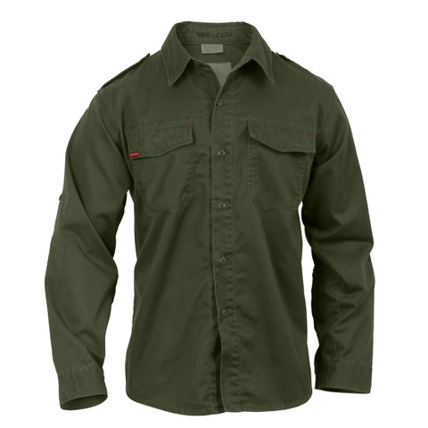 Ultra Force Vintage Olive Drab Fatigue Shirt - Front View