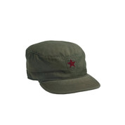 Vintage Republic Olive Drab Fatigue Cap - Red Star View