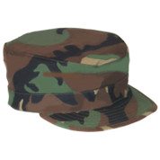 Woodland Camo Military Fatigue Cap