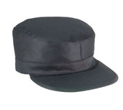 Black Ranger Fatigue Cap w/Map Pocket - 2 Ply