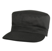 Basic Black Fatigue Cap - Poly/Cotton
