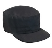Black Adjustable Fatigue Cap