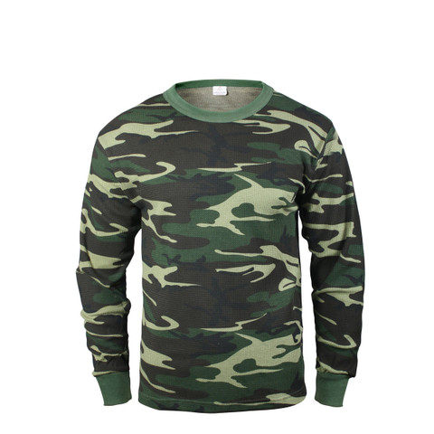 Camouflage Thermal Underwear Shirt - View