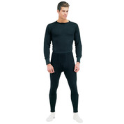 Black Thermal Underwear - Tops & Bottoms View