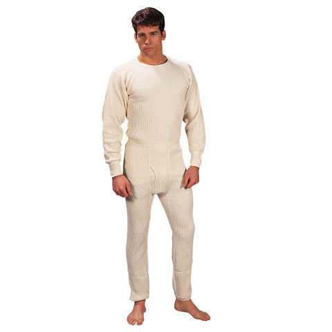 100% Cotton Heavyweight Thermal Underwear -Full View