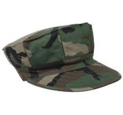 Woodland Camo Ripstop Cotton Marine Cap/No Emblem