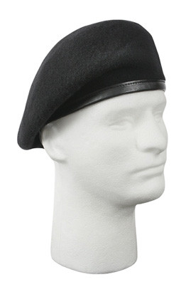 G.I. Type Inspection Ready Black Beret - Side View