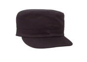 Women's Black Fatigue Cap - Adjustable Fit