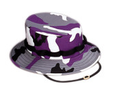 Women's Purple Camo Jungle Hat