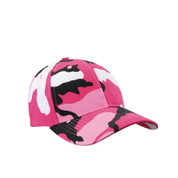 Pink Camo Supreme Low Profile Baseball Cap-View