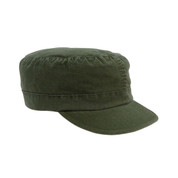Womens Olive Drab Vintage Fatigue Cap - View