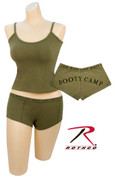Women's Olive Drab Booty Camp Short/Tank Tops