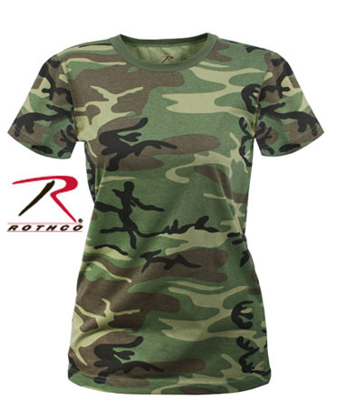 Rothco Women's Longer Woodland Camo T Shirt - Rothco Brand