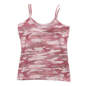 Women's Baby Pink Camo Tank Top - Flat View
