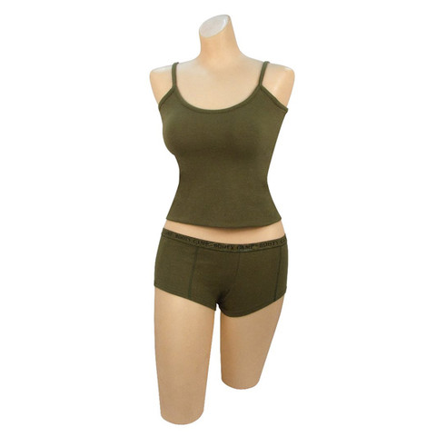 Womens Fashion Olive Drab Tank Top - View
