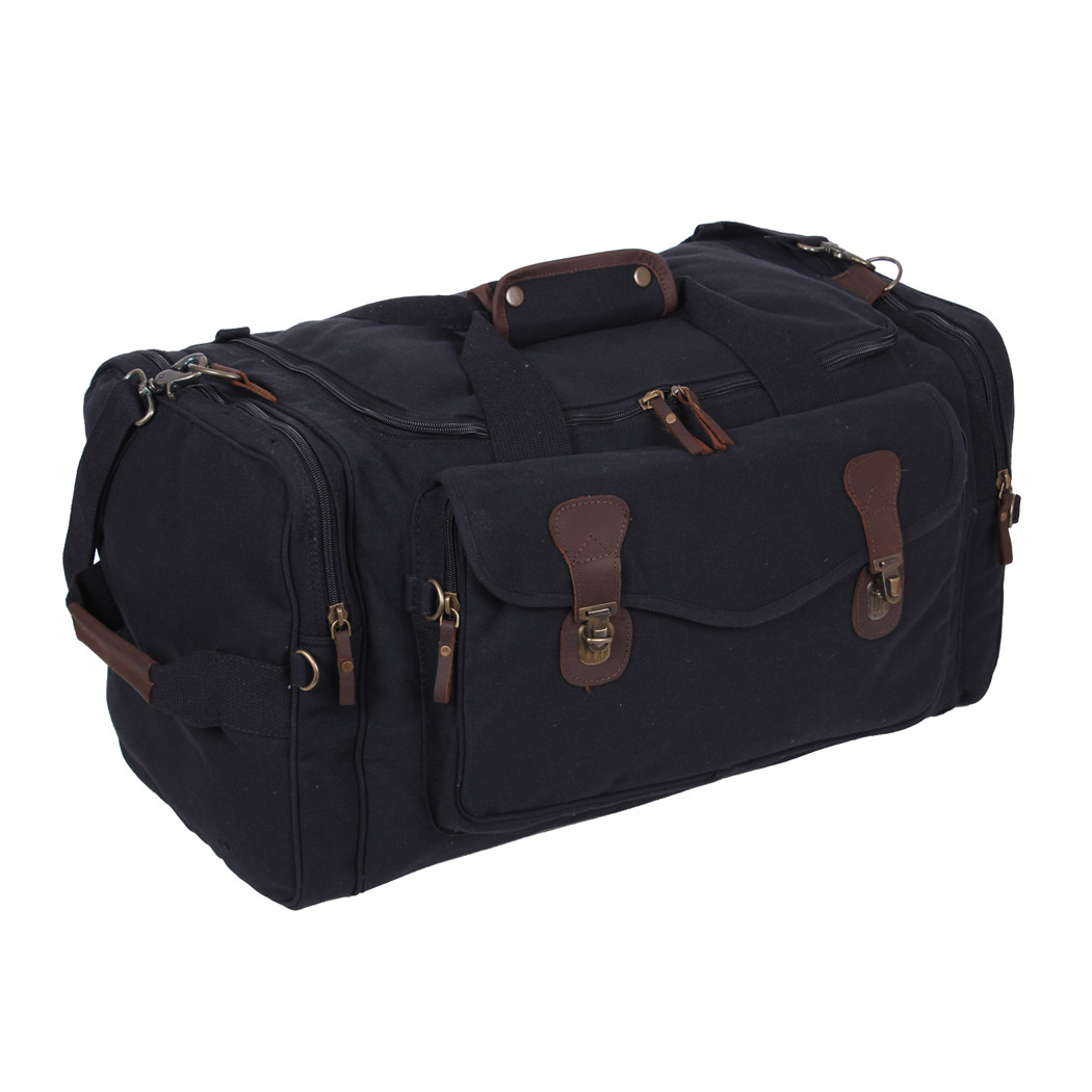 8682cafd63 Shop Vintage Black Canvas Weekender Bags - Fatigues Army Navy Gear Bags