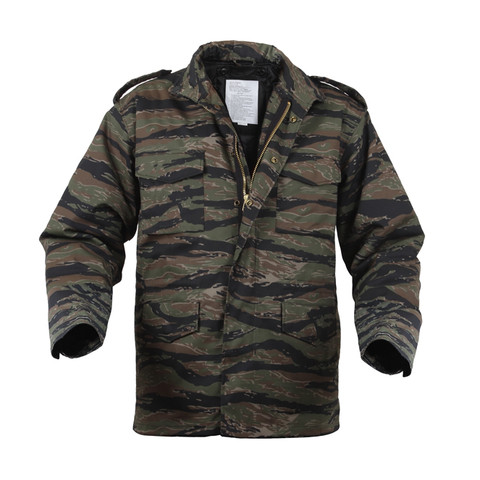 M-65 Tiger Stripe Camo Field Jacket - Front View