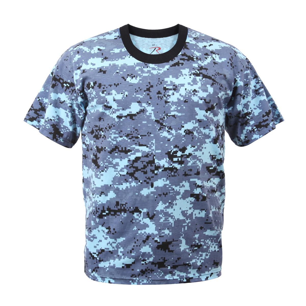 00d6b683 Shop Sky Blue Digital Camo T Shirts - Fatigues Army Navy