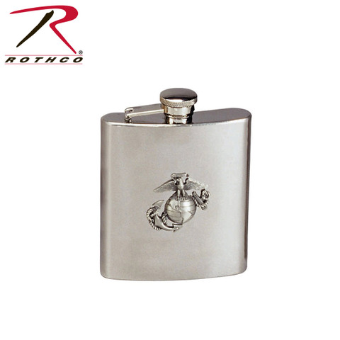 Marine Corps Logo Stainless Steel Flask - Rothco View