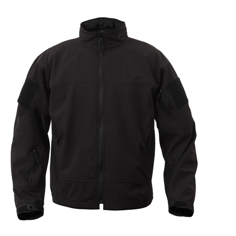 Rothco Covert Ops Light Weight Soft Shell Jacket - Front View
