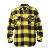 Extra Heavyweight Buffalo Yellow Plaid Flannel Shirts - Front View
