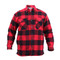 Extra Heavyweight Buffalo Red Plaid Sherpa Lined Flannel Shirt - Front View
