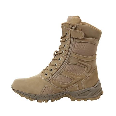 Kids Desert Deployment Boots - Left Inside View