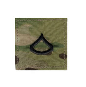 MultiCam Embroidered Rank Insignia - Private 1st Class