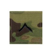 MultiCam Embroidered Rank Insignia - Private