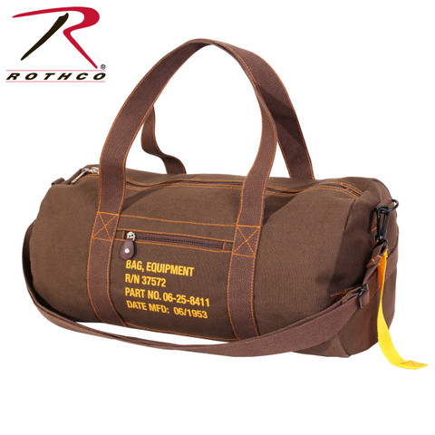 Military Style Brown Canvas Equipment Bag  - Rothco View