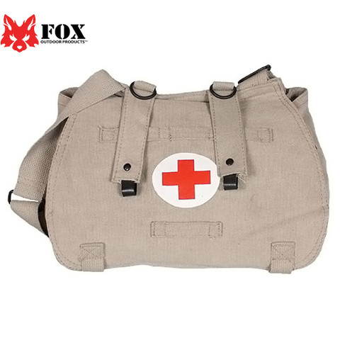 Khaki Euro Retro Medic Bag - Fox Outdoor View
