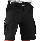 Rothco Black EMT Shorts - Front View