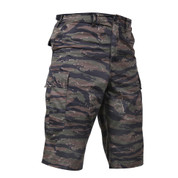 Rothco Tiger Stripe Camo Long Length BDU Short  - Right Angle View