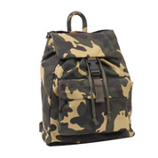 Woodland Camo Canvas Daypack - Side View